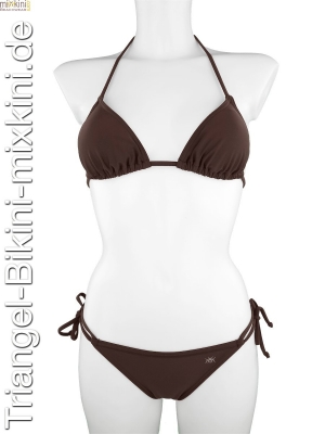Braune Triangel Bikinis im Set