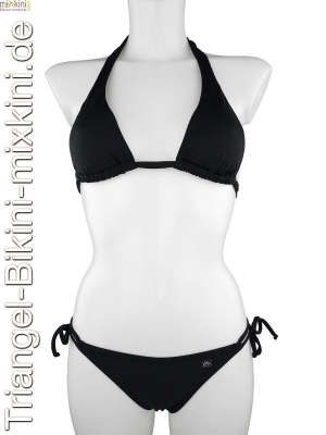 Bikini Triangel Set in schwarz