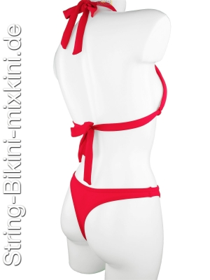Bikini-String-Neckholder-Set in rot