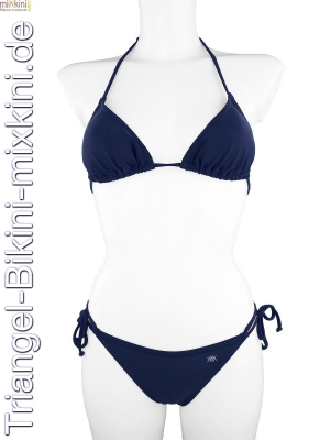 Triangel Bikini blau, blaue Triangel Mixkinis