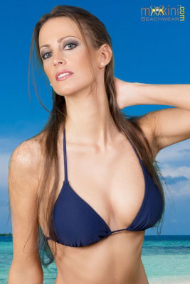 Dunkelblaues Bikini-Triangel-Top IBIZA