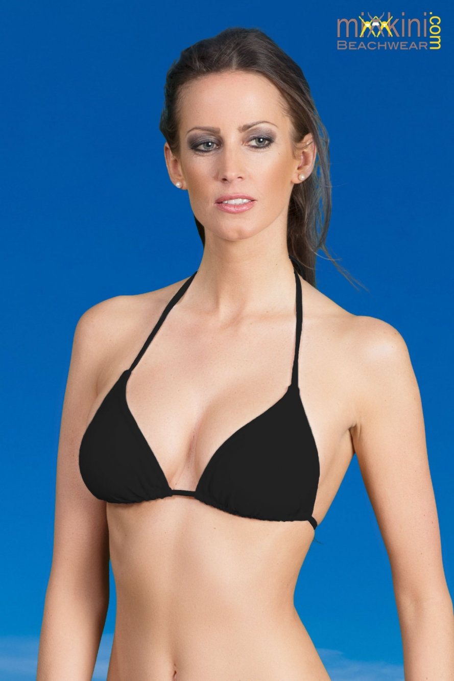 triangel bikini oberteile schwarz mit cups einzeln mixkini beachwear. Black Bedroom Furniture Sets. Home Design Ideas