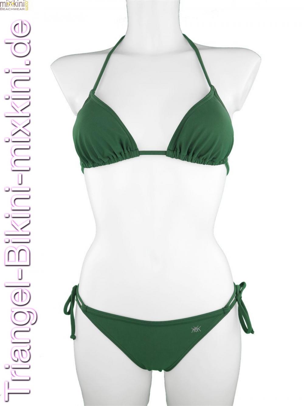 triangel bikini khaki gr n online kaufen mixkini beachwear. Black Bedroom Furniture Sets. Home Design Ideas