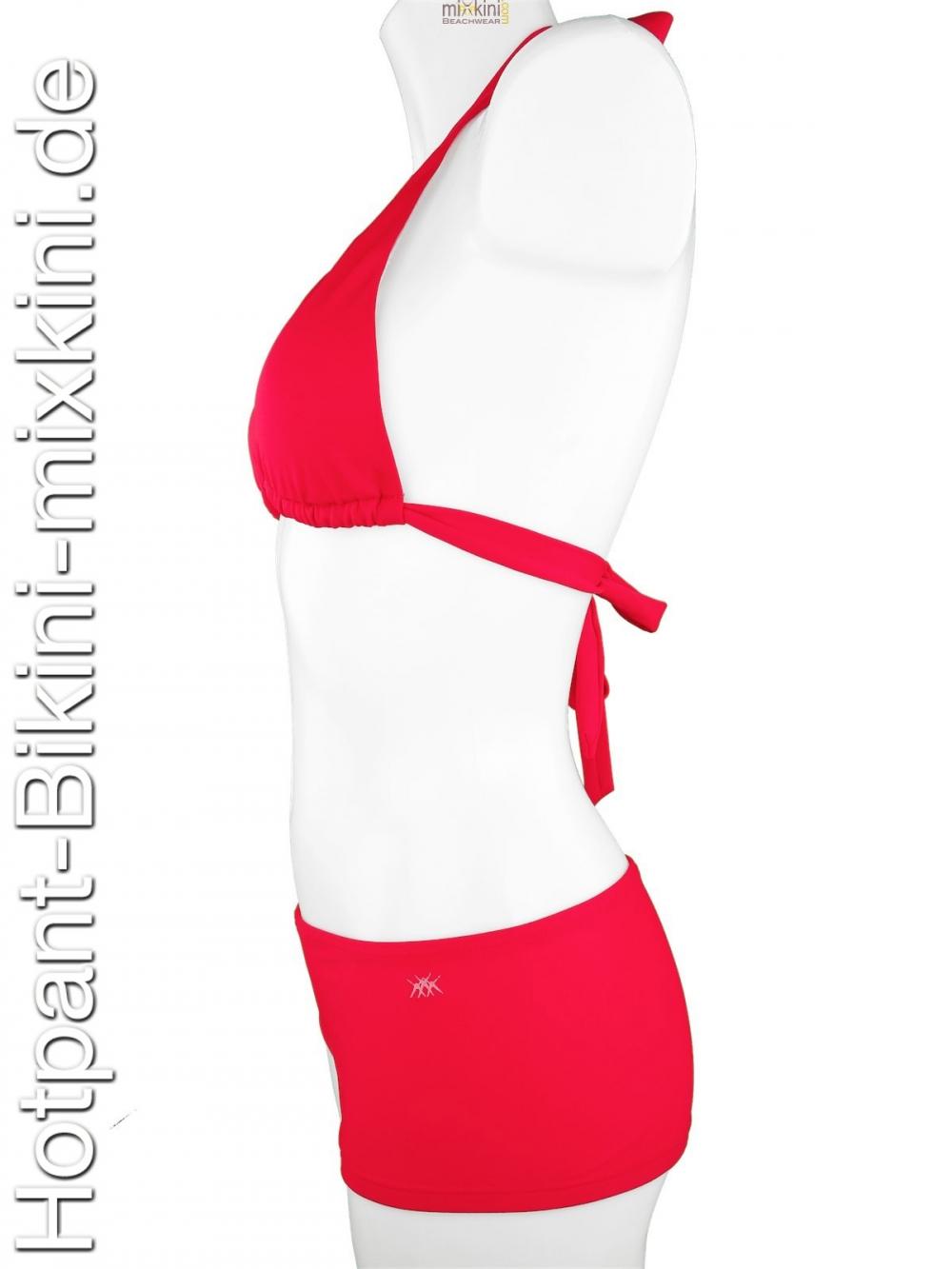 schicke rote bikini hotpant sets zum preisvorteil. Black Bedroom Furniture Sets. Home Design Ideas