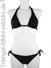 unifarbenen Triangel Bikini: Bikini Triangel einfarbig in schwarz