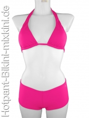 Bikini-Hotpants-Neckholder-Set in pink