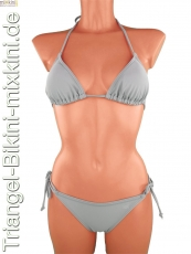 Triangel-Bikini: Triangel Bikini grau, graue Triangel Mixkinis