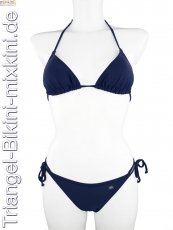 Triangel-Bikini: Triangel Bikini blau, blaue Triangel Mixkinis