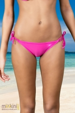 unifarbenen Triangel Bikini: Triangel Bikini Hose pink, pink Triangel Hose unifarben