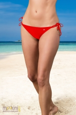 unifarbenen Triangel Bikini: Triangel Bikini Hose rot, rote Triangel Hose unifarben