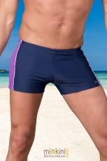 Badehosen Herren in Boxerform blau lila NEW YORK