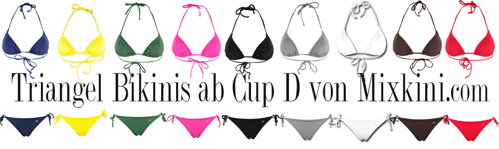 triangel bikinis mit d cups